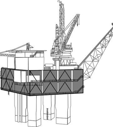 oil-rig-Black n white